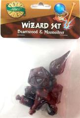 Heartwood - Moonsilver (PolyHero Dice) - Wizard Set