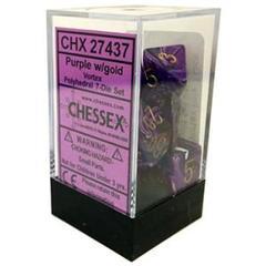 Vortex Purple - Gold Dice (Chessex) - CHX27437