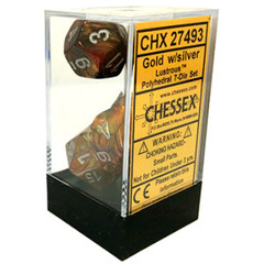Lustrous Gold - Silver Dice (Chessex) - CHX27493