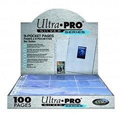 9 Pocket Pages - Silver (Ultra Pro) - 100ct