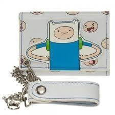 White - Finn - Trifold Wallet (Adventure Time) - Chain