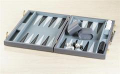 15'' Grey Vinyl Backgammon