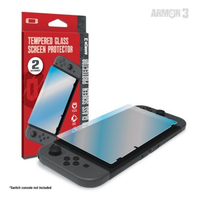 (Hyperkin) Tempered Glass Screen Protector for Switch (2-Pack)