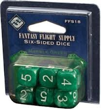 Green - D6 Dice (Fantasy Flight Games) - 6x