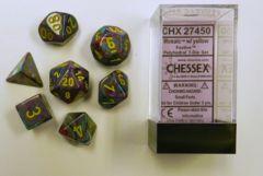 7ct Festive Mosaic/Yellow Dice Set - CHX27450