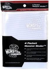 Monster Protectors 4 Pocket White Holo Binder