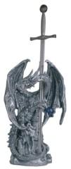 Silver Dragon + Sword 12 in. - 71343