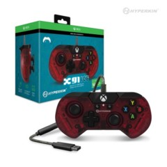 (Hyperkin) X91 Wired Controller for Xbox One/ Windows 10 (Ruby Red)