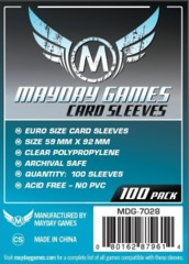Clear - (Mayday Games) Euro Sleeves - 59mm x 92mm - 100ct