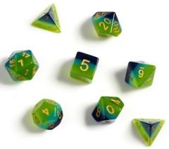 Sirius Dice - Green , Blue Translucent