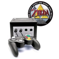 Nintendo Gamecube With Legend of Zelda Collectors Edition.