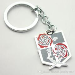 Double Rose Pendant Key Chain (Attack on Titan)