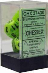 Bright Green / Black Vortex Polyhedral (Chessex) - CHX27430