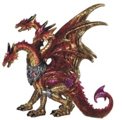 3 - Head Red Dragon 10 in. - 71839