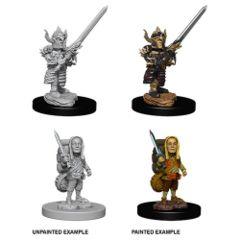 Halfling Female Fighter - Dungeons & Dragons (Nolzur's Marvelous Miniatures) - Unpainted