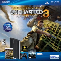 PlayStation 3 Uncharted 3 System Bundle - 250 GB - includes Uncharted 3 Game of the Year Edition