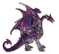 3-Head Purple Dragon 10 in. - 71840