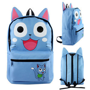 Blue - Happy Cat - Fairytail (Backpack) - Apparel » Backpacks - Wii ... 232f464f26