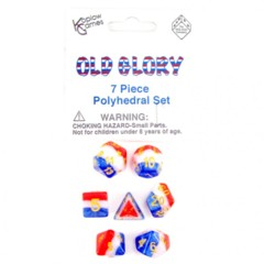 7 Piece Polyhedral Set - Old Glory