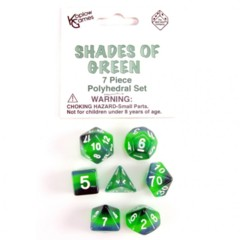 7 Piece Polyhedral Set - Shades of Green