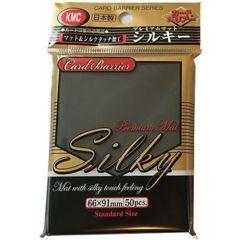 Silky Mat Black - Standard Sleeves (KMC) - 50ct