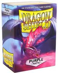Matte Purple - Standard Boxed Sleeves (Dragon Shield) - 100 ct