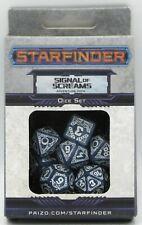 Starfinder Signal of Screams (Dice Set) White & Blue Paizo