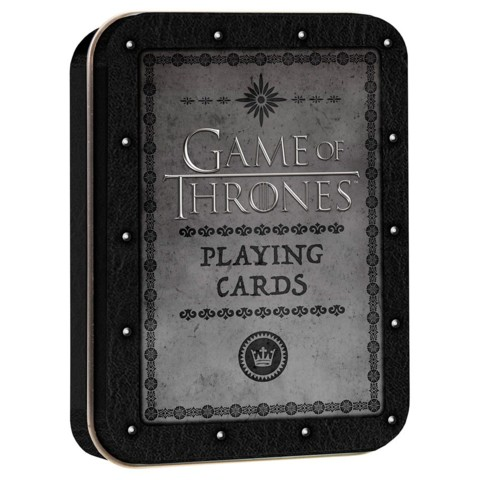 Playing Cards (Game of Thrones) - Black Tin