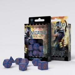 Wizard Dark-Blue & Orange (Q-Workshop) - 7 Dice Set