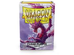 Clear Purple Matte - Standard Boxed Sleeves (Dragon Shield) - 100 ct