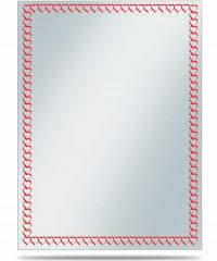 Clear - Red Border (Ultra Pro) - Standard Sleeves - 50ct