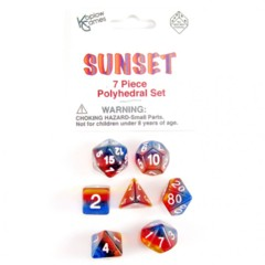 7 Piece Polyhedral Set - Sunset