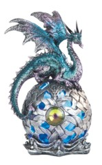 Blue Purple Dragon Globe - LED - 8 in. - 71512