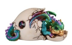 Blue Multi-Color Dragon - Hatching Egg - 71666