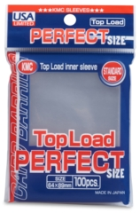 Clear - Standard Perfect Fit Sleeves (KMC) - 100 ct