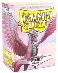 Matte Pink - Standard Boxed Sleeves (Dragon Shield) - 100 ct