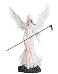 Dark Angel Fairy In White 24 in. - 91857