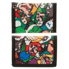Mario Characters - Tri-fold Wallet (Super Mario) - Velcro