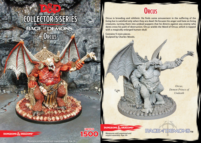 D&D Collector's Series - Rage of Demons - Orcus - Miniatures