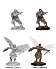 Aasimar Male Fighter - Dungeons & Dragons (Nolzur's Marvelous Miniatures) - Unpainted