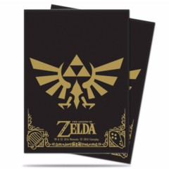 Black & Gold - The Legend of Zelda Logo (Ultra Pro) - Standard Sleeves - 65ct