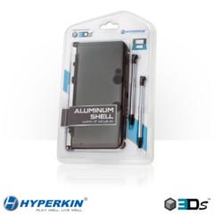 (Hyperkin) 3DS Aluminum Shell with 2 Retractable Stylus Pens (Gray)