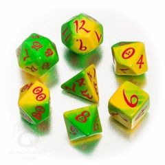 Classic - Green-Yellow-Red  (Q-Workshop) - 7 Dice Set