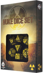 Nuke Revised Black & yellow Dice Set (7)