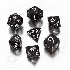 Black-White Classic Rpg Dice Set