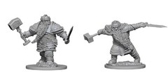 Dwarf Male Fighter - Dungeons & Dragons (Nolzur's Marvelous Miniatures) - Unpainted