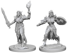 Elf Female Fighter - Pathfinder (Deep Cuts) - Unpainted