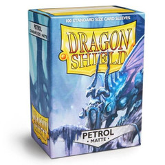 Matte Petrol - Standard Boxed Sleeves (Dragon Shield) - 100 ct