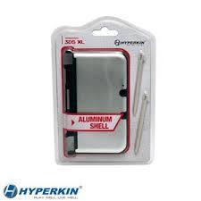 (Hyperkin) 3DS XL Aluminum Shell with 2 Stylus Pens (Silver)