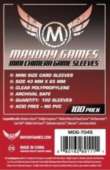 Clear - (Mayday Games) Mini Chimera Sleeves - 43mm x 65mm - 100ct